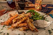 Langoustine lobster on dinner plate in Hofn, Iceland