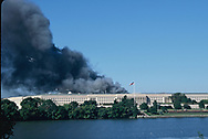 Arlington, VA, 2001/09/11 The Pentagon a few minutes after American Airline Flight 77 crashed into it.<br />Photo by Dennis Brack