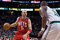Basketball<br /> NBA<br /> Foto: Dppi/Digitalsport<br /> NORWAY ONLY<br /> <br /> BASKETBALL - NBA - BOSTON (USA) - TD BANKNORTH GARDEN - 14/11/2007<br /> <br /> BOSTON CELTICS (WINNER 91-69) V NEW JERSEY NETS<br /> JASON KIDD (5) (NEW JERSEY NETS)
