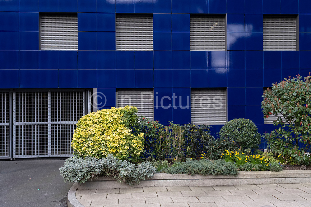 Squares on a wall on 5th March 2021 in London, England, United Kingdom.