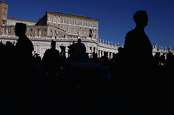 November 21,  2018  - Vatican City (Holy See)  POPE FRANCIS is silhouetted during his Wednesday General Audience in St. Peter's Square at the Vatican  (Credit Image: © Evandro Inetti/ZUMA Wire)
