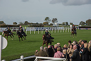 SIDE-SADDLE RACE, Side-Saddle Dash, Southern Spinal Injuries Trust charity Day. Wincanotn. 25 October 2015.
