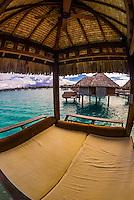Deck with plunge pool, Overwater bungalow suite,  Four Seasons Resort Bora Bora, French Polynesia.