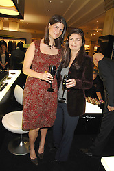 KATRINA PAVLOS and VANESSA WINGATE at a party to celebrate the 5th anniversary of Grand Classics held at the Dom Perignon OEnotheque Bar at Harrods, Knightsbridge, London on 14th February 2008.<br />