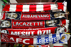 Scarves on sale outside the stadium ahead of the match