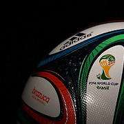 Brazuca football. The official Adidas match ball for the FIFA World Cup Brazil 2014. 1st December 2013. Photo Tim Clayton