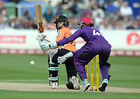 Cricket - 2019 Women's Cricket Kia Super League - Semi-Final: Loughborough Lightning vs. Southern Vipers<br /> <br /> Paige Scholfield of Southern Vipers, slips the ball past wicket keeper Amy Jones, at County Cricket Ground, Hove.<br /> <br /> COLORSPORT/ANDREW COWIE