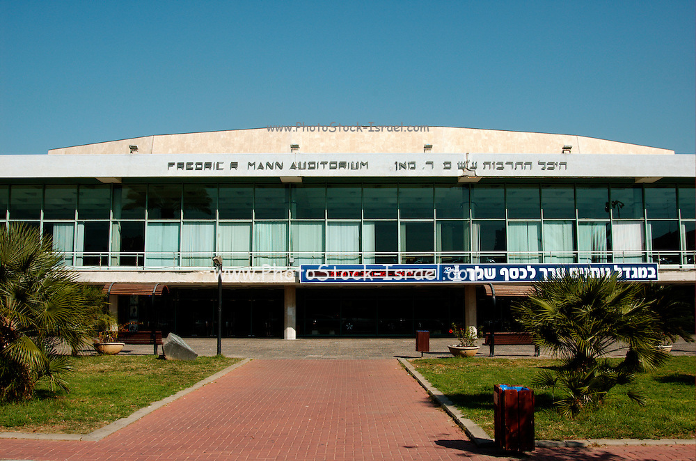 Fredric R Mann Auditorium, Tel Aviv, Israel home of the Israel symphony orchestra Bauhaus style building part of the reason UNESCO declared central Tel Aviv as an international heritage site November 2005
