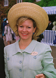 MRS CHARLES SAATCHI wife of the advertising supremo, at Royal Ascot on 18th June 1998.MIN 114
