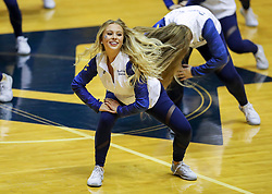 Nov 24, 2018; Morgantown, WV, USA; A West Virginia Mountaineers dancer performs during the second half against the Valparaiso Crusaders at WVU Coliseum. Mandatory Credit: Ben Queen-USA TODAY Sports