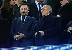 February 6, 2019 - Barcelona, Spain - The presidents Josep Maria Bartomeu and Florentino Perez during the match between FC Barcelona and Real Madrid corresponding to the first leg of the 1/2 final of the spanish cup, played at the Camp Nou Stadium, on 06th February 2019, in Barcelona, Spain. (Credit Image: © Joan Valls/NurPhoto via ZUMA Press)