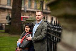 May 5, 2019 - London, London, United Kingdom - Image licensed to i-Images Picture Agency. 01/05/2019. London, United Kingdom. British academic Matthew Hedges and his wife Daniela Tejada. (Credit Image: © i-Images via ZUMA Press)