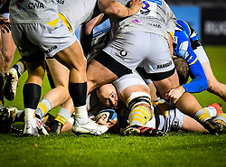 Dan Robson of Wasps at the bottom of the ruck - Mandatory by-line: Andy Watts/JMP - 08/01/2021 - RUGBY - Recreation Ground - Bath, England - Bath Rugby v Wasps - Gallagher Premiership Rugby