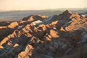 View of desert with salt and horizon, Valle de la Luna, Atacama Desert, Chile