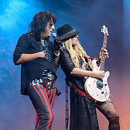 ALICE COOPER and ORIANTHI at Gibson Amphitheater in Los Angeles, California