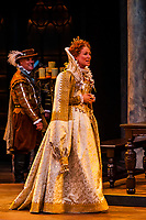 """""""Mary Stuart"""" (the story of Queen Elizabeth I and her cousin, Mary Queen of Scots) performed at the Tony Award-winning Utah Shakespeare Festival, Adams Memorial Outdoor Stage, Cedar City, Utah USA."""