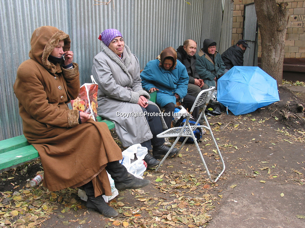 homeless people in Moscow