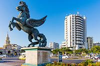 Cartagena , Colombia  - March 5, 2017 : Pegasus Statues in Centro Historico<br /> area of Cartagena de los indias Bolivar in Colombia South America