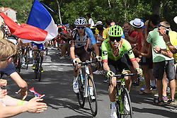 July 16, 2017 - Puy En Velay, France - LE PUY-EN-VELAY, FRANCE - JULY 16 : URAN URAN Rigoberto (COL) Rider of Cannondale - Drapac team and  BARDET Romain (FRA) Rider of Team AG2R La Mondiale leading the pack during stage 15 of the 104th edition of the 2017 Tour de France cycling race, a stage of 189.5 kms between Laissac-Severac l'Eglise and Le Puy-En-Velay on July 16, 2017 in Le Puy-En-Velay, France, 16/07/2017 (Credit Image: © Panoramic via ZUMA Press)