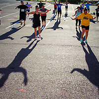 082814       Cable Hoover<br /> <br /> A small crowd of participants fills the parking lot for a Zumba workout outside the Physical Education Complex at UNM-Gallup Thursday.