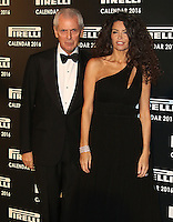 Marco Tronchetti Provera & Afef Tronchetti Provera, Pirelli Calendar 2016 - Gala Dinner, The Roundhouse Camden, London UK, 30 November 2015, Photo by Brett D. Cove