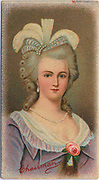 'Marie Antoinette (1755-1793)  Queen of France, wife of Louis XVI. Daughter of Empress Maria Theresa and Emperor Francis I. Guillotined  by the French Revolutionaries. Chromolithograph.'