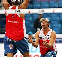 Volleyball, Sandvolleyball, World Tour Stavanger, Grand Slam, 02/07-05,<br />Bård Inge Pettersen (rygg) Iver Horrem,<br />Foto: Sigbjørn Andreas Hofsmo, Digitalsport