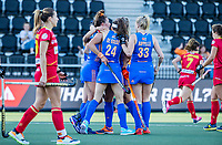 AMSTELVEEN -  Frederique Matla (Ned) scoort  tijdens dames hockeywedstrijd , Spanje-Nederland  (1-7),  bij het EK hockey. Euro Hockey 2021.  COPYRIGHT KOEN SUYK