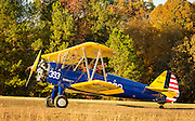 "Boeing PT-17D ""Stearman,"" used as the primary trainer for new Army Air Corps pilots in WWII."