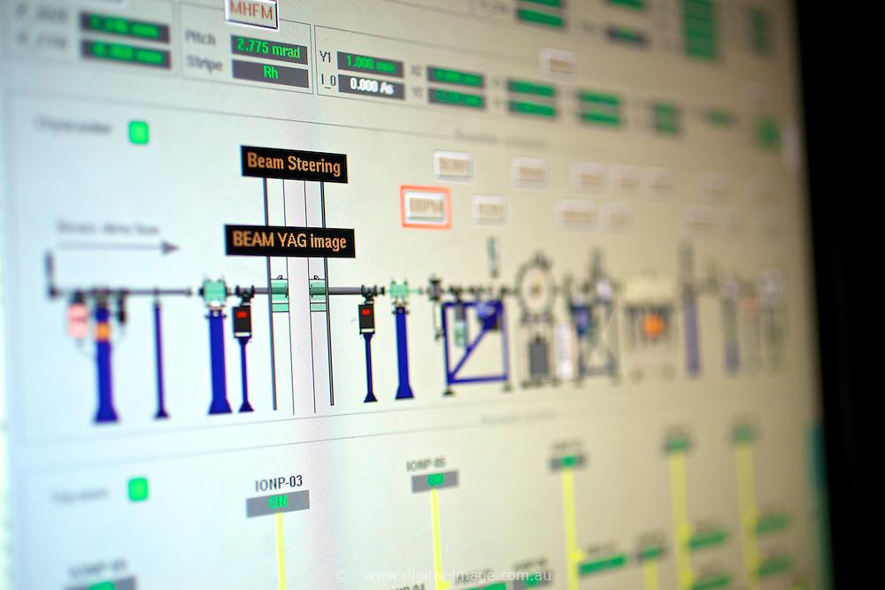 Close up of equipment at the Australian Synchrotron, Macromolecular Crystallography Beamline