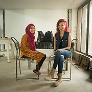 Students inside the National College of Arts, one of the oldest Art college in South Asia.