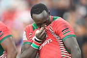 Oscar Avugwi Ayodi (KEN), APRIL 17, 2016 - Rugby : HSBC Sevens World Series, Singapore Sevens match Kenya and Fiji (Cup Finals) at National Stadium in Singapore. (Photo by Haruhiko Otsuka/AFLO)