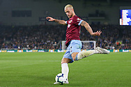 West Ham United forward Marko Arnautovic (7) shoots at goal during the Premier League match between Brighton and Hove Albion and West Ham United at the American Express Community Stadium, Brighton and Hove, England on 5 October 2018.