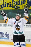05.03.2011, Rapperswil-Jona, Eishockey NLA, Rapperswil-Jona Lakers - HC Lugano, Brady Murray (LUG) jubelt  (Thomas Oswald/hockeypics)