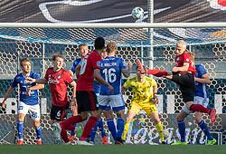 Victor Nelsson (FC København) sparker væk under kampen i 3F Superligaen mellem Lyngby Boldklub og FC København den 1. juni 2020 på Lyngby Stadion (Foto: Claus Birch).