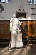 Statue of William Whewell, Trinity College chapel, University of Cambridge, England