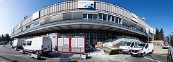 Reconstruction of Arena Tivoli before the 2020 IIHF World Championship Division I Group A Tournament, on March 11, 2020 in Ljubljana, Slovenia. Photo by Vid Ponikvar / Sportida