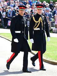 File photo dated 19/5/2018 of Prince Harry (left) and The Duke of Cambridge (right) arrive at St George's Chapel at Windsor Castle for the wedding of Meghan Markle and Prince Harry.