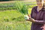 Virgina, owner of Eloise Organic Farm in Albany, Oregon