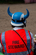 Fire steward, Glastonbury Festival.<br /> Glastonbury Festival is the largest greenfield festival in the world, and is now attended by around 175,000 people. It's a five-day music festival that takes place near Pilton, Somerset, England. In addition to contemporary music, the festival hosts dance, comedy, theatre, circus, cabaret, and other arts. It is organised by Michael Eavis on his own land, Worthy Farm in Pilton. Leading pop and rock artists have headlined, alongside thousands of others appearing on smaller stages and performance areas.