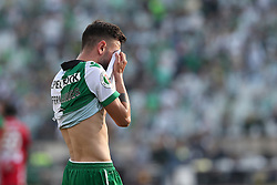 May 20, 2018 - Lisbon, Portugal - Sporting's midfielder Bruno Fernandes from Portugal reacts after losing the Portugal Cup Final football match CD Aves vs Sporting CP at the Jamor stadium in Oeiras, outskirts of Lisbon, on May 20, 2015. (Credit Image: © Pedro Fiuza/NurPhoto via ZUMA Press)