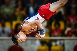November 2, 2018 - Doha, Qatar - Yul Moldauer of United States   during  Floor for Men at the Aspire Dome in Doha, Qatar, Artistic FIG Gymnastics World Championships on 2 of November 2018. (Credit Image: © Ulrik Pedersen/NurPhoto via ZUMA Press)