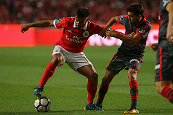 August 9, 2017 - Lisbon, Lisbon, Portugal - Benficas forward Toto Salvio from Argentina (L) and Bragas forward Ricardo Horta from Portugal (R) during the Premier League 2017/18 match between SL Benfica v SC Braga, at Luz Stadium in Lisbon on August 9, 2017. (Credit Image: © Dpi/NurPhoto via ZUMA Press)