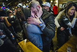 February 4, 2018 - Minneapolis, MN, USA - Angie Ersberg said ''yes'' to boyfriend Timothy Folds' proposal at the Blarney Pub and Grill on Sunday, Feb. 4, 2018, in Minneapolis, Minn. The two are from Fort Wayne, Ind. (Credit Image: © Richard Tsong-Taatarii/TNS via ZUMA Wire)