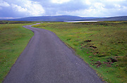 Small country road going into the distance to Cow Green reservior, Upper Teesdale, England
