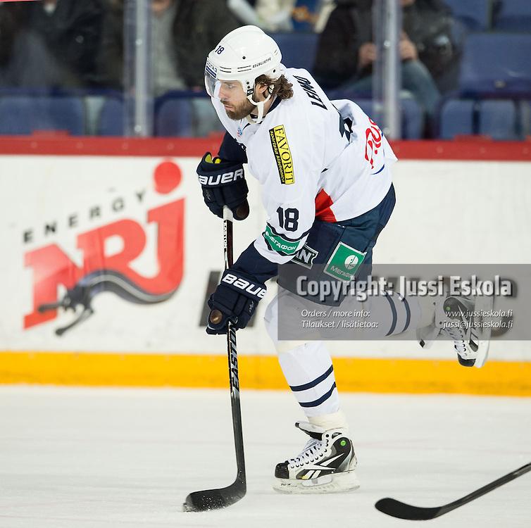 Ville Leino. Jokerit - Medvescak Zagreb. KHL. 28.1.2015. Photo: Jussi Eskola