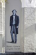 Full length portrait picture of railway pioneer Daniel Gooch 1816-1889, Swindon, Wiltshire, England, UK
