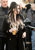 Paige Velasquez  at trafalgar square stop as  WWE Stars tour London  in an open-top bus   promotie the WWE's move to BT Sport, and