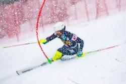 during the Audi FIS Alpine Ski World Cup Men's  Slalom at 60th Vitranc Cup 2021 on March 14, 2021 in Podkoren, Kranjska Gora, Slovenia Photo by Grega Valancic / Sportida
