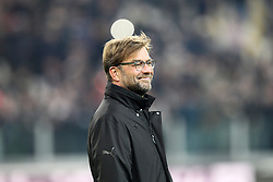 24.02.2015, Veltins Arena, Turin, ITA, UEFA CL, Juventus Turin vs Borussia Dortmund, Achtelfinale, Hinspiel, im Bild Chef-Trainer Juergen Klopp (Borussia Dortmund) gut gelaunt, lacht // during the UEFA Champions League Round of 16, 1st Leg match between between Juventus Turin and Borussia Dortmund at the Veltins Arena in Turin, Italy on 2015/02/24. EXPA Pictures © 2015, PhotoCredit: EXPA/ Eibner-Pressefoto/ Kolbert<br /> <br /> *****ATTENTION - OUT of GER*****